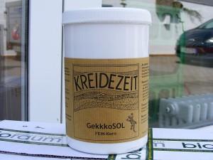 Der Gekkkosol-Streichputz (Feinkorn) wird anwendungsfertig geliefert